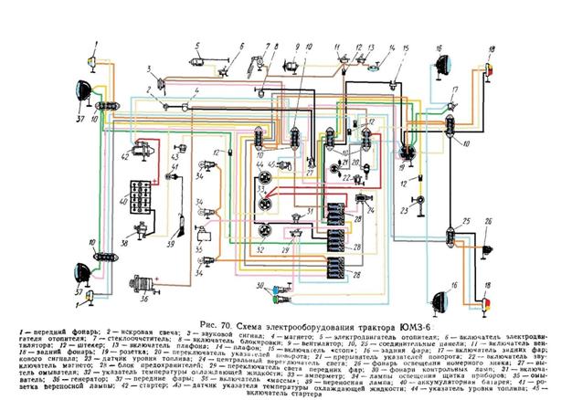 Электросхема двигателя