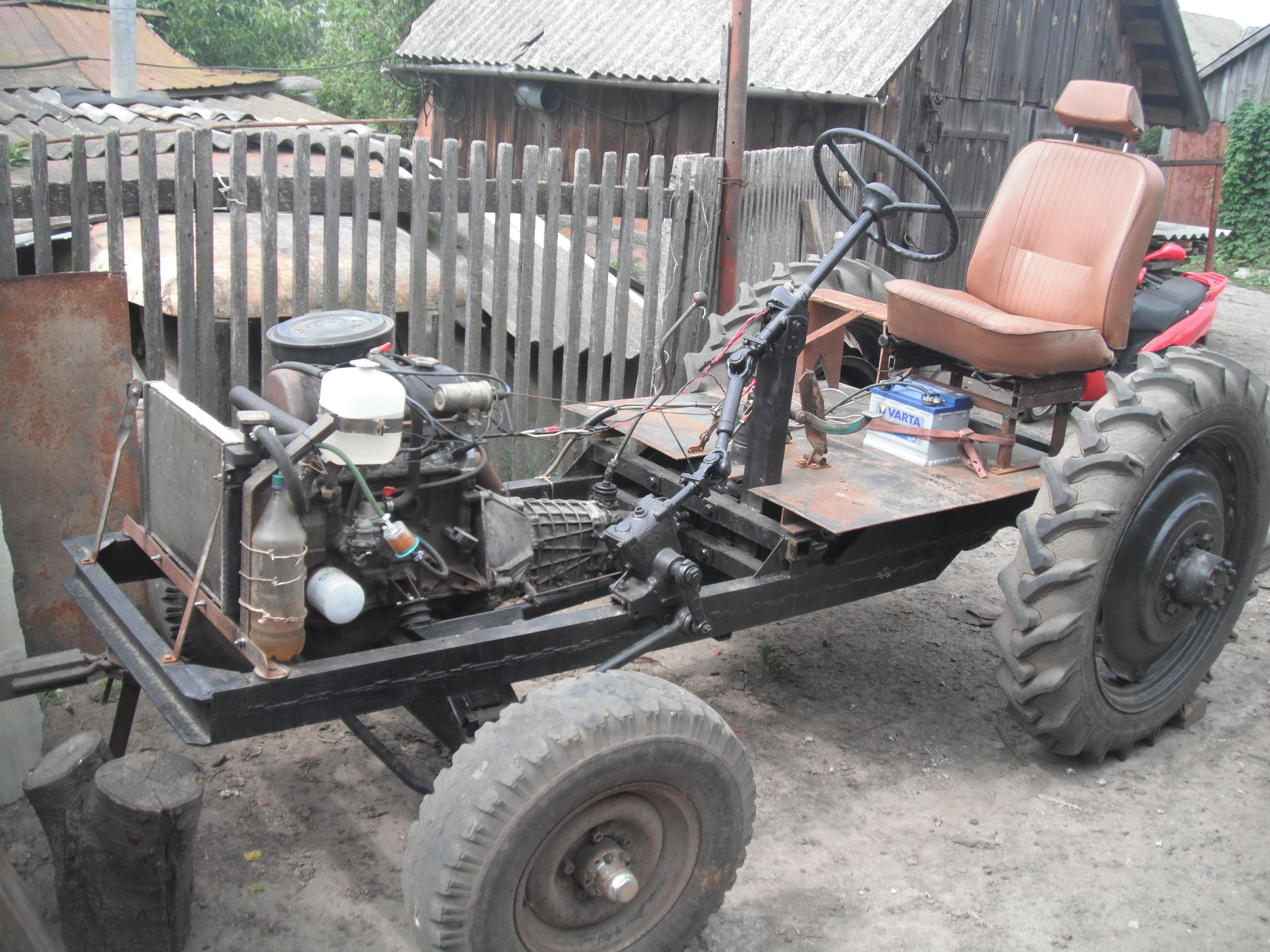Как сделать самодельный трактор чертежами фото 47
