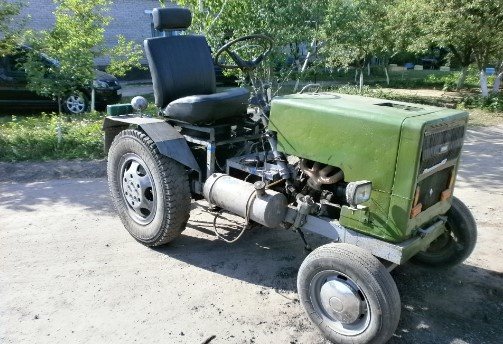 Трактор из Москвича своими руками