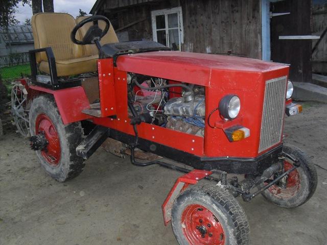 Как самому сделать трактор из Москвича?