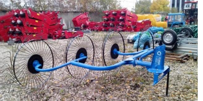 Навесные грабли ворошилки на трактор