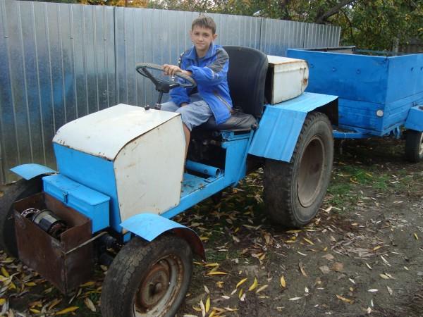 Как сделать из запорожца трактор?