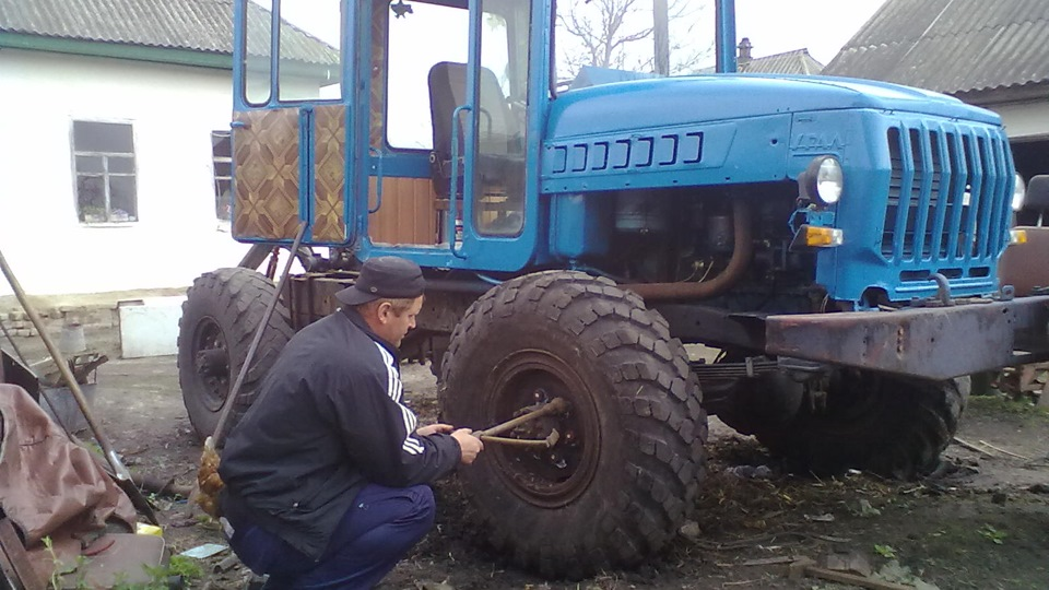 Трактор своими руками газ