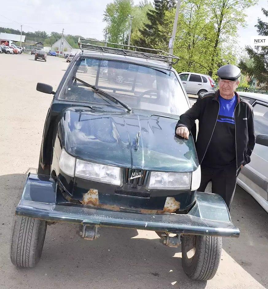 Самодельный трактор из Оки