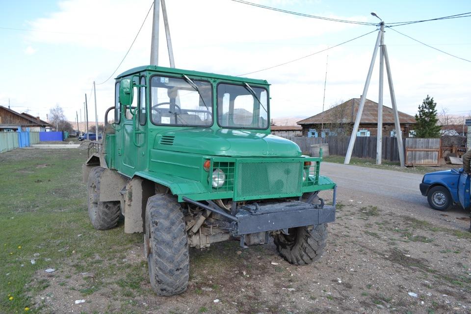 Как сделать трактор из Газ-66?