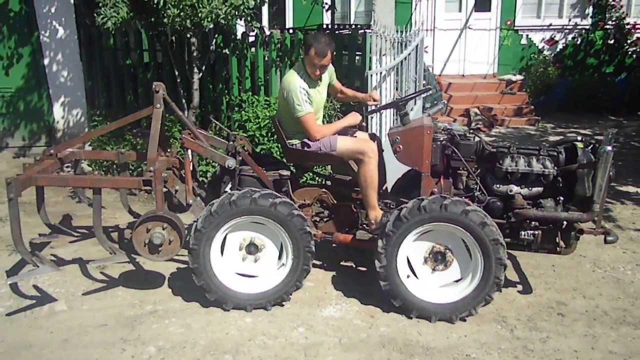 Мини трактора самоделки с ломающейся рамой