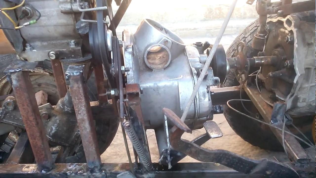 Как сделать на самодельному трактору сцепление 759
