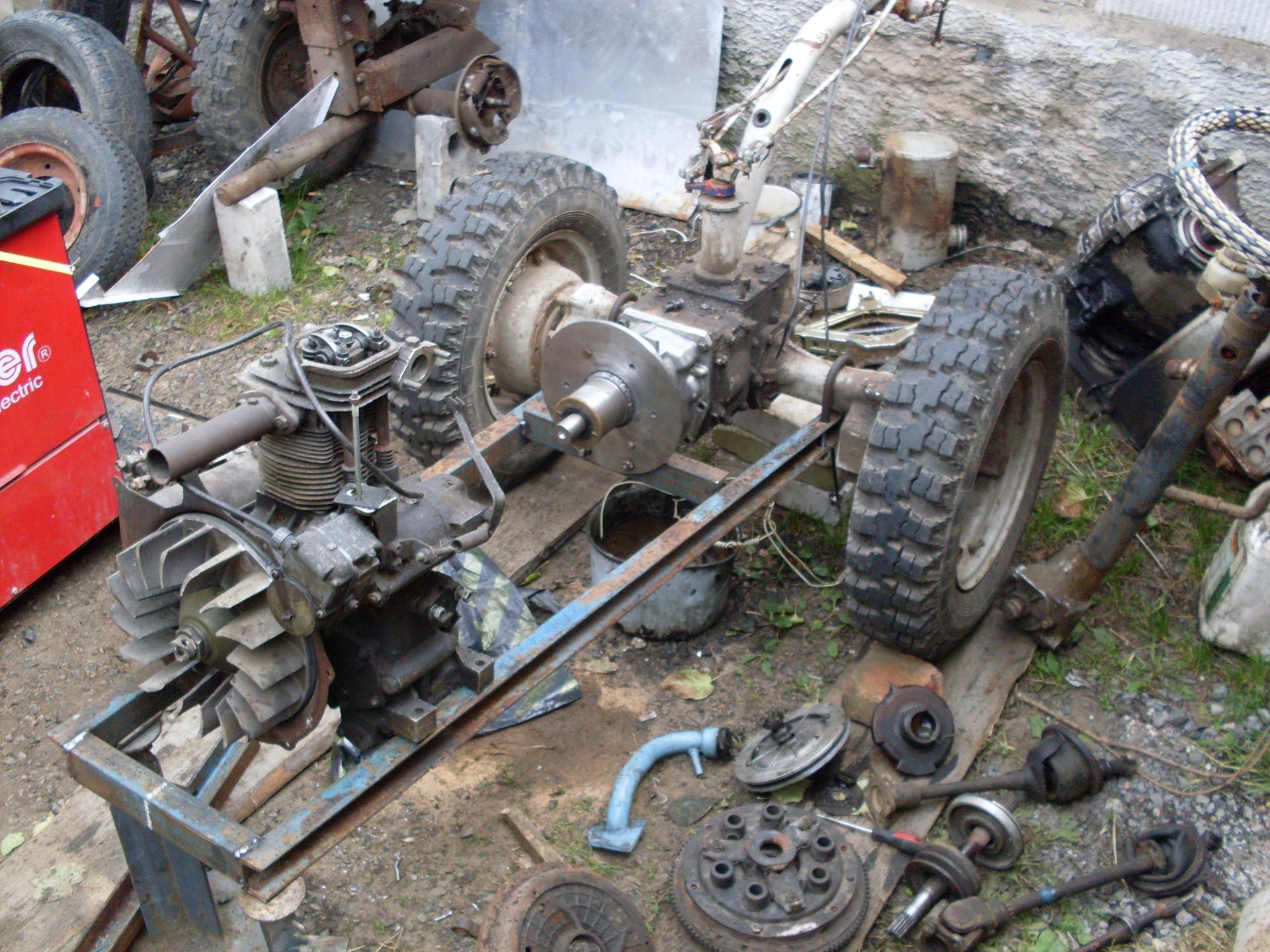 Двигатель и сцепление своими руками фото 110