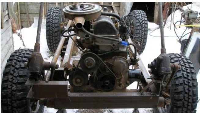 Минитрактор с двигателем ВАЗ