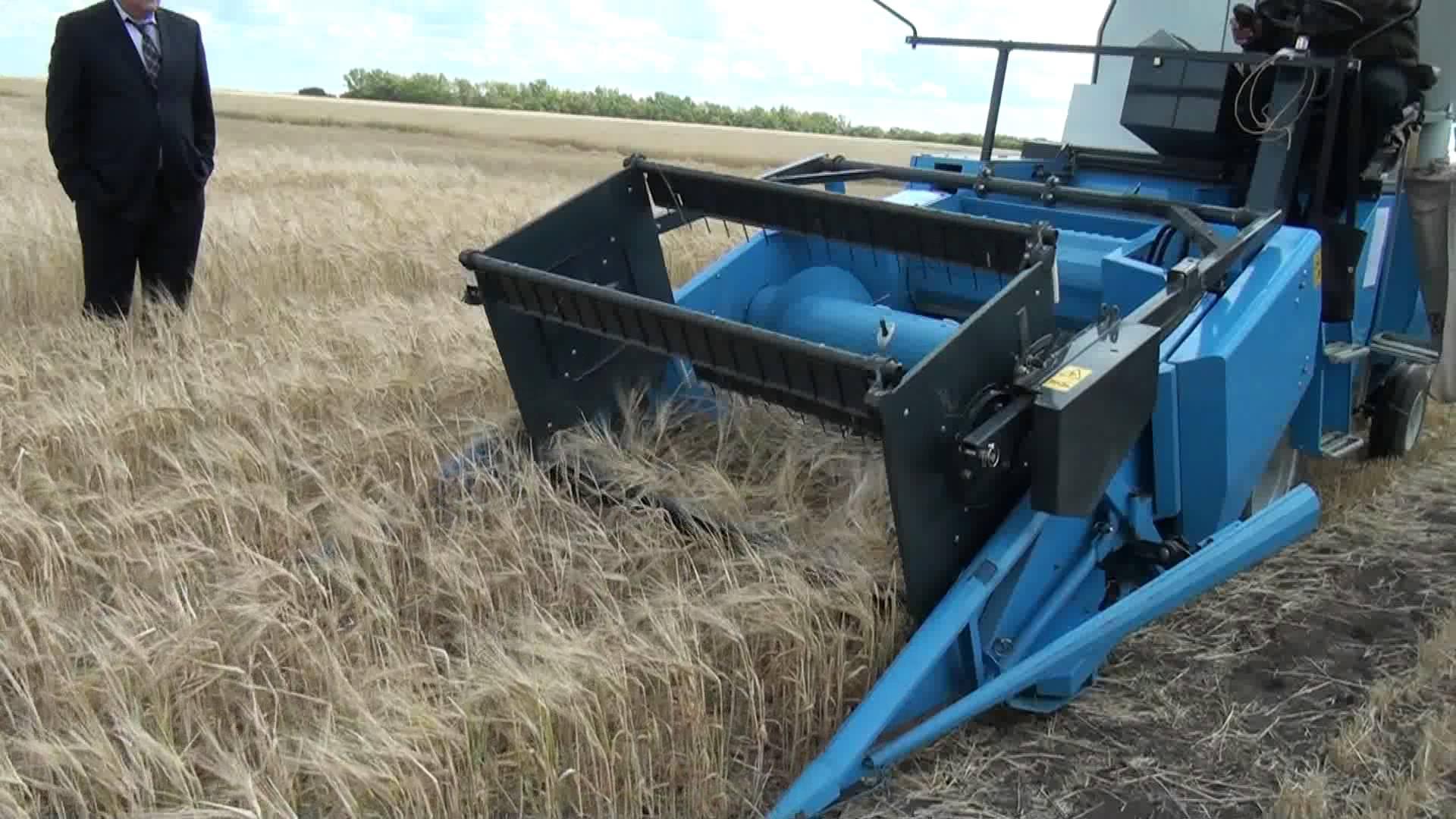 Самодельный комбайн для уборки зерна