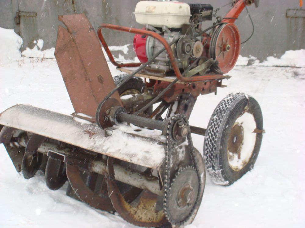 Переделать культиватор в снегоуборщик