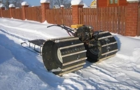 Самому сделать из мотоблока снегоход