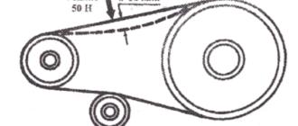 Схема натяжки ремня