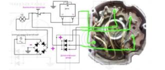 Схема подключения генератора к мотоблоку