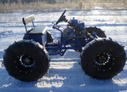 Снегоход на базе мотоблока