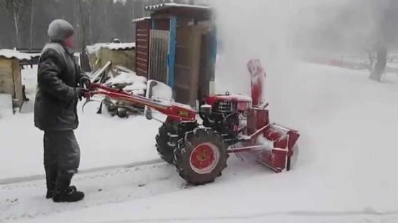 Снегоочиститель на мотоблок