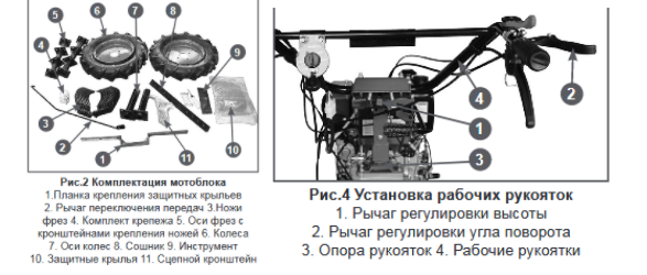 Конструкция мотоблока Чемпион DC1193E
