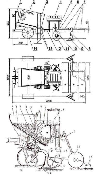 Приспособление для посадки картошки мотоблоком