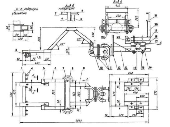 Схема по переделке мотоблока Нева в минитрактор