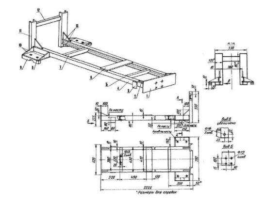 Схемы по переделке мотоблока в минитрактор