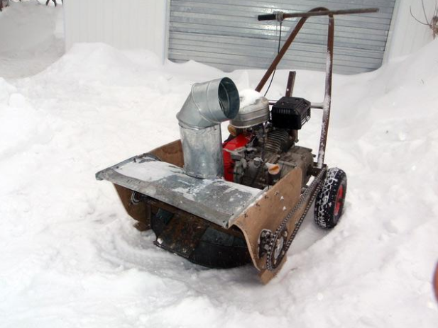 Снегоуборщик из культиватора, фото
