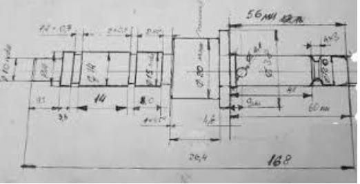 Подготовка к изготовлению лодочного мотора, чертеж