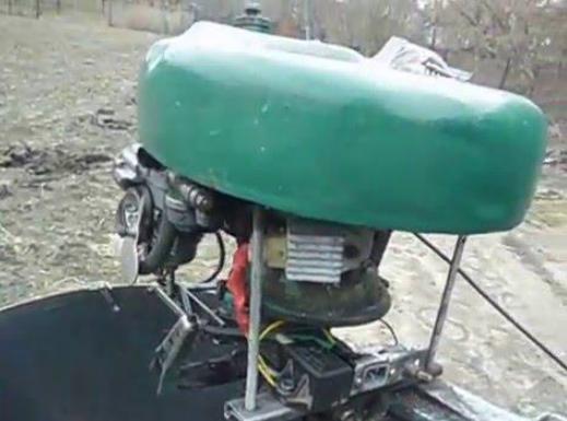 Лодочный мотор из бензопилы Дружба